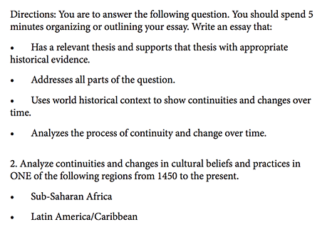 continuity and change over time essay ap world history