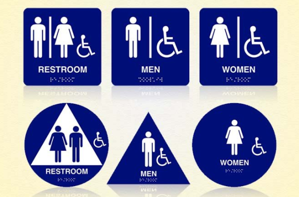 los angeles signs restroom signs new ada laws and