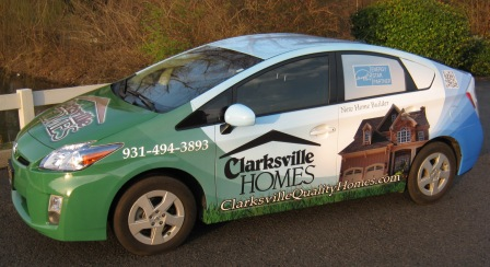Clarksville Homes Vehicle Wrap, 12 point signworks