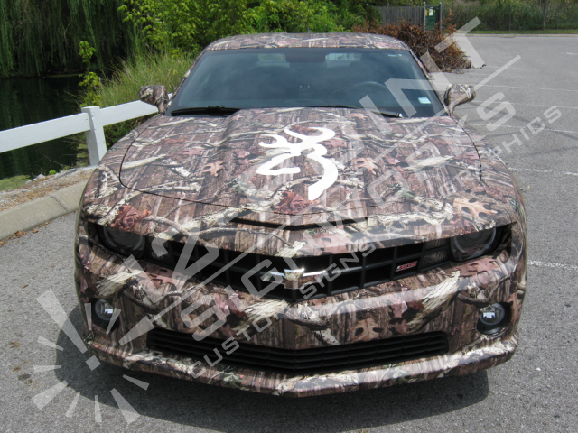 Front Camo Wrap with Cut Vinyl Logo