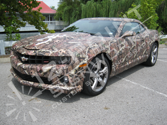 Camo Wrap on Camaro