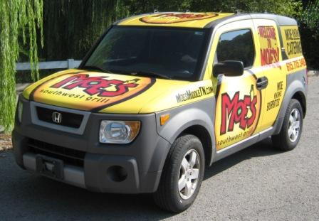 Fleet advertising custom wrap design