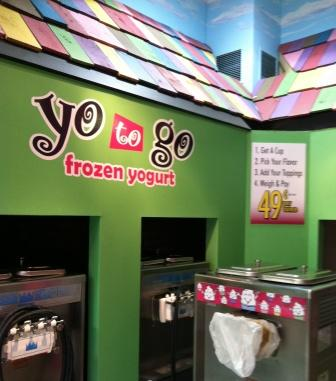 custom vinyl letters yogurt shop