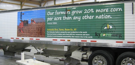 Kentucky Corn Growers Association, Trailer Wraps, 12 point signworks, Trailer Graphics, Trailer Wrap, Vehicle Wraps, Vehicle Graphics Installers, custom wrap