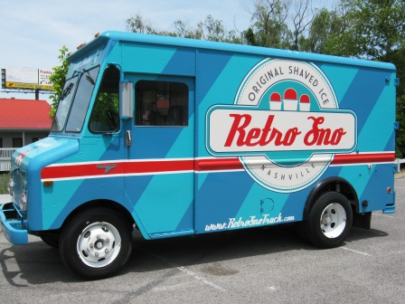 food truck wrap, retro sno, 12 point signworks