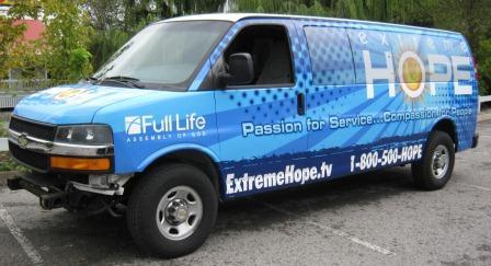 Church Passenger Van Full Color Vinyl Wrap