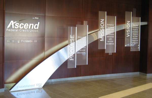Custom Indoor Signs Lobby Signs 12 Point Signworks
