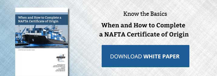 When Should You Refuse to Complete the NAFTA Certificate of Origin?