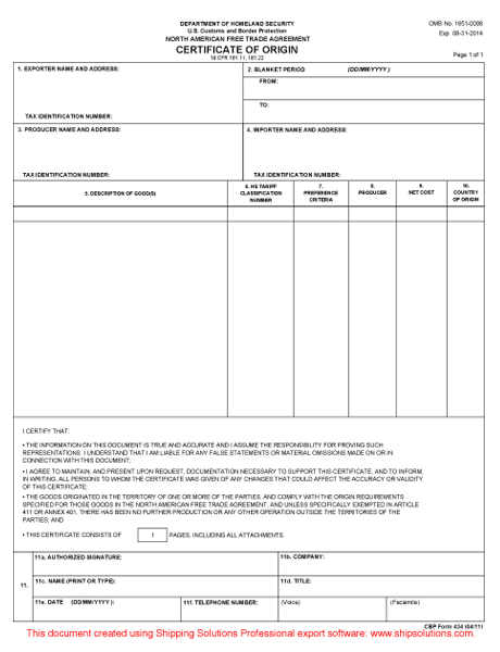 Certificate Of Origin Form Usa Pictures to Pin – Certificate of Origin Forms