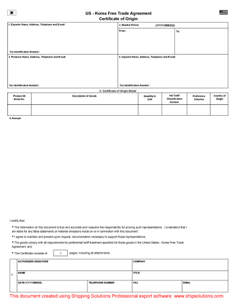Cafta Form Pictures to Pin PinsDaddy – Certificate of Origin Forms