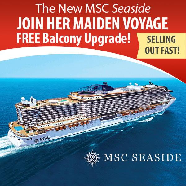 Maiden voyage cruise free balcony upgrades for Balcony upgrade