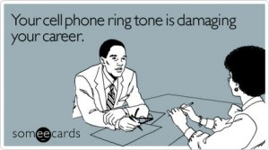 Cell Phone Ring Tone E-Card