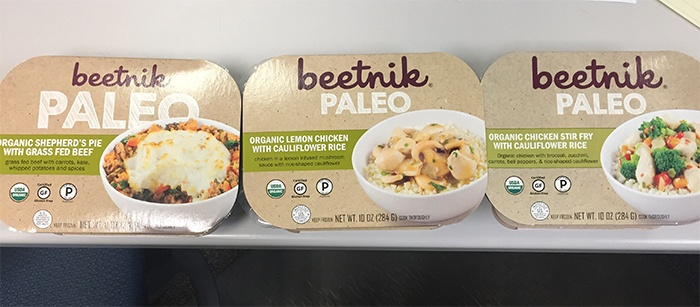 Beetnik Paleo Organic frozen meals