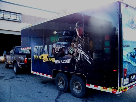 US Navy Recruitment Trailer Wrap