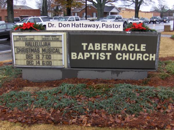 Church Monument Before - Tabernacle Baptist Church