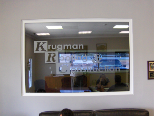 Etched Glass on Lobby Window