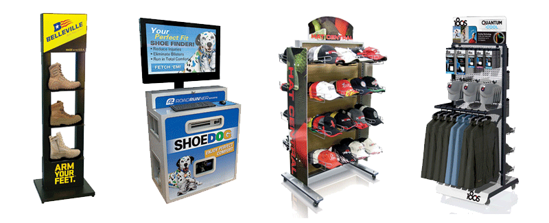 Custom Retail DIsplays, Hat Racks, Shoe Racks and Clothing Displays