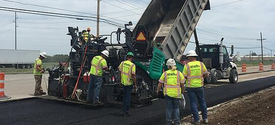 the shelly company paving in the midwest