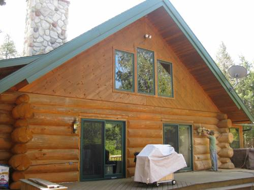 Lack of log home maintenance