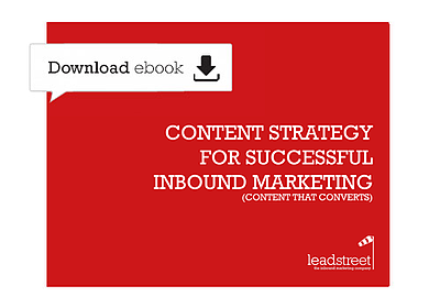 Gratis ebook 'Content Strategy for Successful Inbound Marketing'