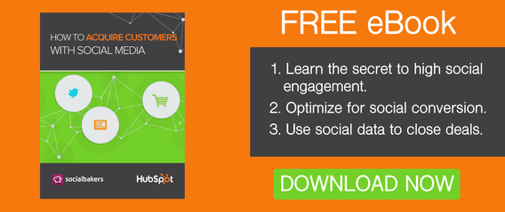 acquire customer with social media ebook CTA