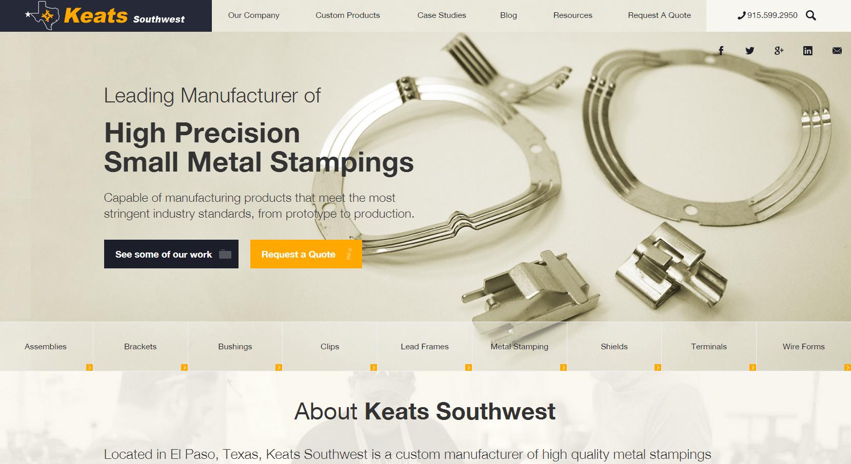 Keats SW website