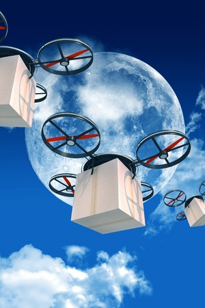 drones-delivering-packages