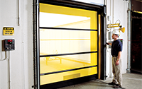 Keep pests away with the BugShield Roll Up  Screen Door