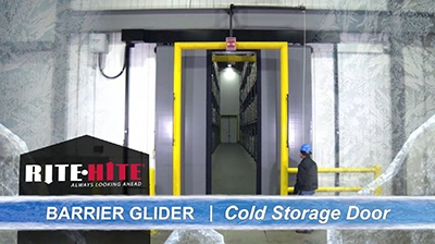 Barrier Glider Cold Storage Door