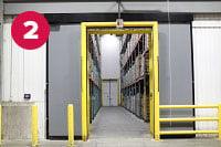 Barrier Glider Cold Storage Door