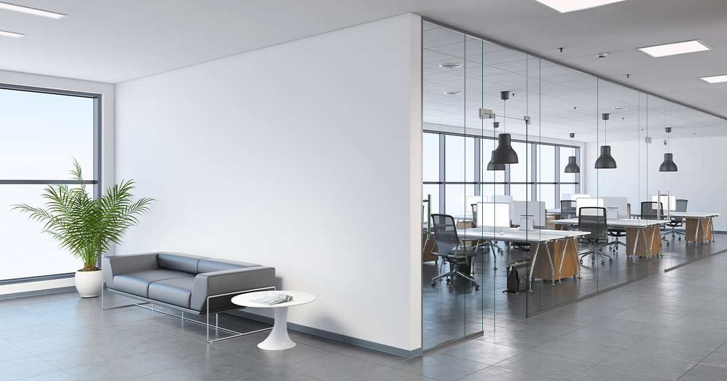 Modern office soundproof