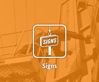 Sign division at Lemberg Electric Company for sign installation, sign service.