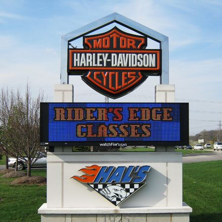 Hal's Harley Davidson exterior signage with EMC