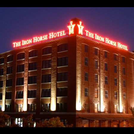 Milwaukee Iron Horse Hotel sign