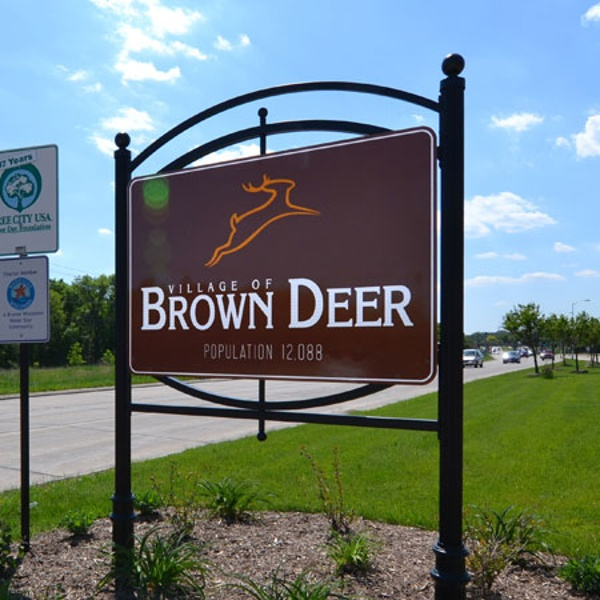 Brown Deer exterior municipality sign