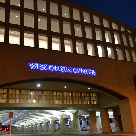 Wisconsin Center exterior sign
