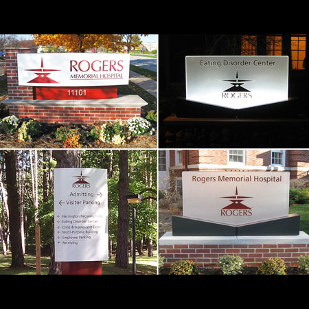 Rogers Memorial Hospital signage