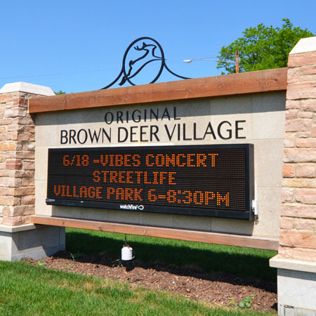 Brown Deer Village exterior sign