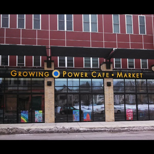 Growing Power cafe sign