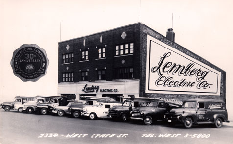 IMG: Historic image of Lemberg's building on State Street in Milwaukee