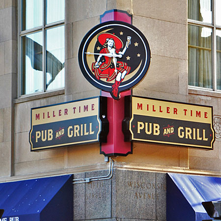 Miller Time Pub sign