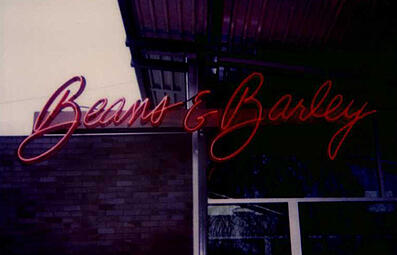 Beans and Barley neon sign