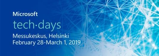 Vuoden tärkein Microsoft-tapahtuma - TechDays 2019