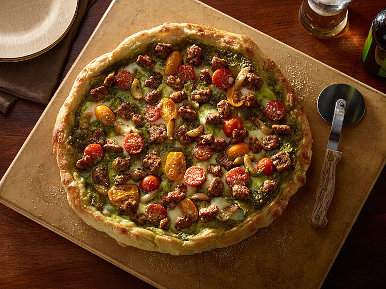 Pesto Chicken Sausage Pizza | Fully Cooke Meats
