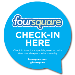 FourSquare Check-In Here Sticker