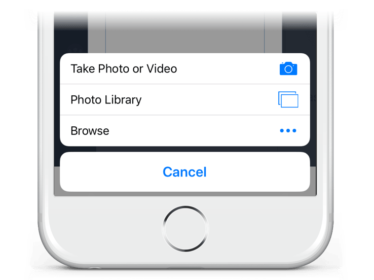 Take photos with your mobile phone and send them via text message