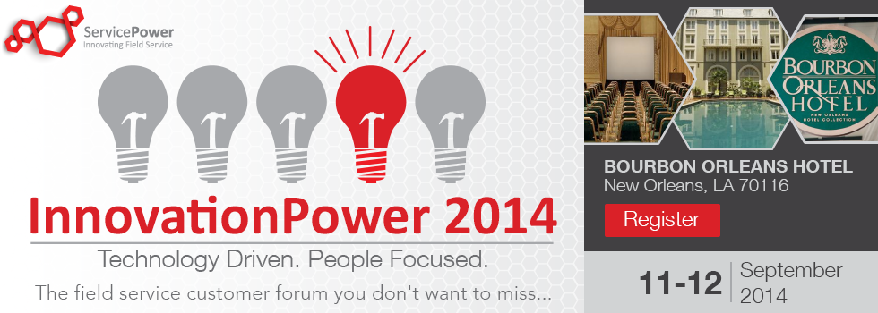 InnovationPower is around the Corner! Are you joining us? | ServicePower | Innovating Field Service