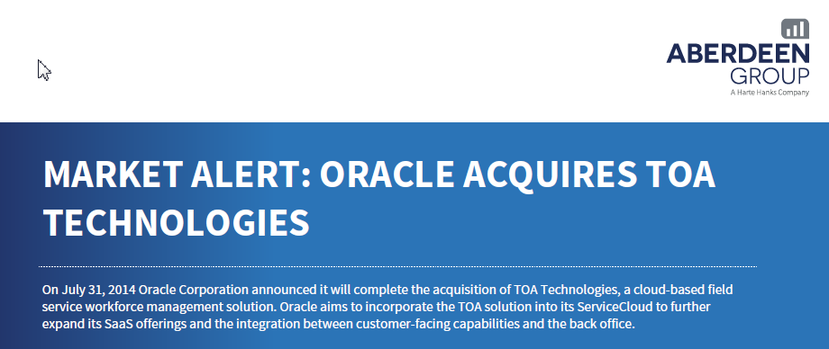Free White Paper: Oracle TOA Acquisition