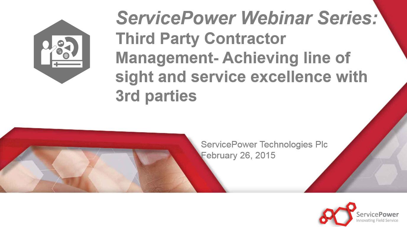 Webinar: Third Party Contractor Management