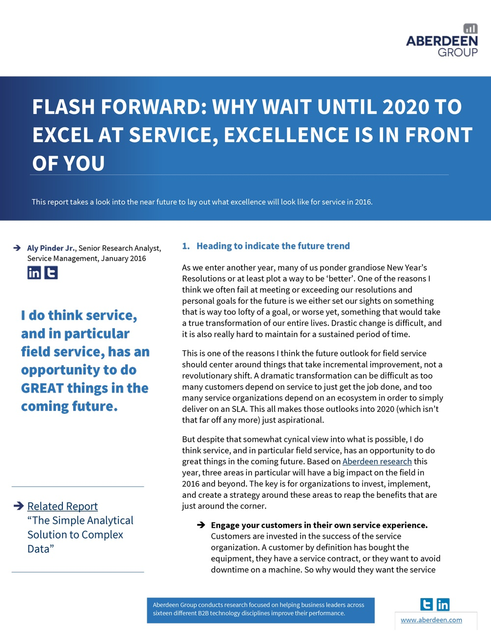 Why Wait Until 2020 to Excel at Service, Excellence is in Front of You